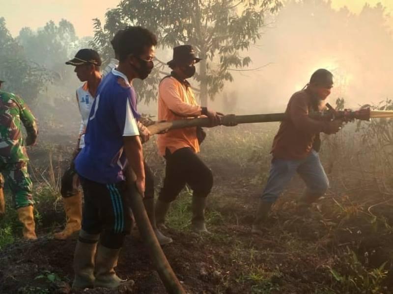 Kebakaran Hutan dan Lahan di Rasau Jaya Tiga
