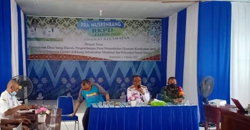 Kegiatan Pra Musrenbang RKPD Tahun 2022 Tingkat Kecamatan di Kabupaten Kubu Raya